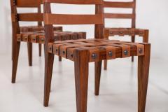 Osvaldo Borsani Osvaldo Borsani Chairs in Wood and Letaher rare - 1977672