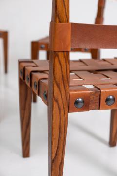 Osvaldo Borsani Osvaldo Borsani Chairs in Wood and Letaher rare - 1977674