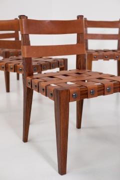 Osvaldo Borsani Osvaldo Borsani Chairs in Wood and Letaher rare - 1977675