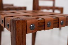 Osvaldo Borsani Osvaldo Borsani Chairs in Wood and Letaher rare - 1977676