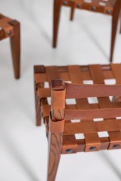 Osvaldo Borsani Osvaldo Borsani Chairs in Wood and Letaher rare - 1977677