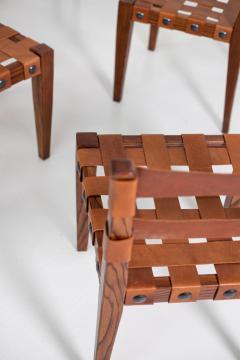 Osvaldo Borsani Osvaldo Borsani Chairs in Wood and Letaher rare - 1977678