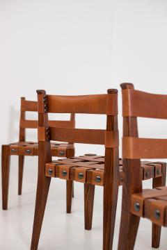 Osvaldo Borsani Osvaldo Borsani Chairs in Wood and Letaher rare - 1977679