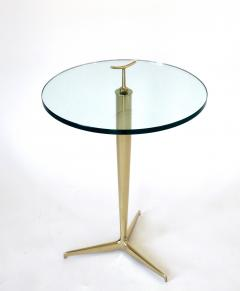 Osvaldo Borsani Osvaldo Borsani Italian Brass and Glass Side Tables c1960 - 1220352