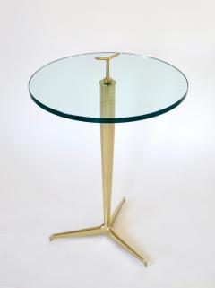 Osvaldo Borsani Osvaldo Borsani Italian Brass and Glass Side Tables c1960 - 1220355