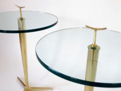 Osvaldo Borsani Osvaldo Borsani Italian Brass and Glass Side Tables c1960 - 1220363