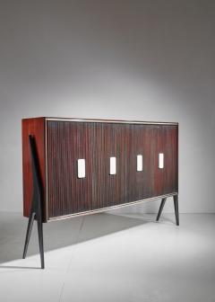 Osvaldo Borsani Osvaldo Borsani Large Mahogany Sideboard with Alabaster Grips Italy 1950s - 877068