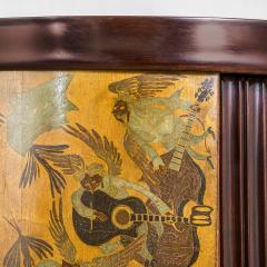 Osvaldo Borsani Osvaldo Borsani Luminous Bar Cabinet in Wood and painted Wood - 2095730