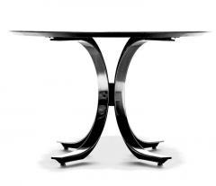 Osvaldo Borsani Osvaldo Borsani Walnut Stainless Steel Oval Dining Table c 1970s - 2118757