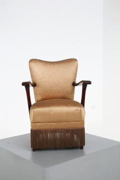 Osvaldo Borsani Osvaldo Borsani armchair for ABV beige in original fabric published 1950s - 1557555