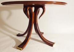 Osvaldo Borsani Rare and Important Center Table in Cherry and Glass by Osvaldo Borsani - 206624