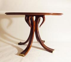 Osvaldo Borsani Rare and Important Center Table in Cherry and Glass by Osvaldo Borsani - 206626