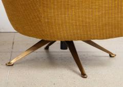 Osvaldo Borsani Swivel Lounge Chairs by Osvaldo Borsani for ABV - 1650247