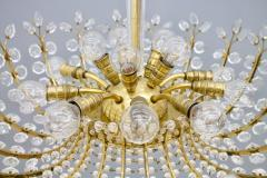 Oswald Haerdtl Oswald Haerdtl Chandelier vor Lobmeyr Austria 1955 Brass and Crystal Glass - 661791
