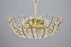 Oswald Haerdtl Oswald Haerdtl Chandelier vor Lobmeyr Austria 1955 Brass and Crystal Glass - 661792