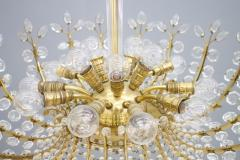 Oswald Haerdtl Oswald Haerdtl Chandelier vor Lobmeyr Austria 1955 Brass and Crystal Glass - 661793