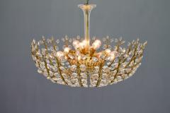 Oswald Haerdtl Oswald Haerdtl Chandelier vor Lobmeyr Austria 1955 Brass and Crystal Glass - 661796