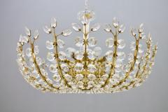 Oswald Haerdtl Oswald Haerdtl Chandelier vor Lobmeyr Austria 1955 Brass and Crystal Glass - 661797