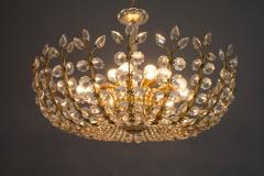 Oswald Haerdtl Oswald Haerdtl Chandelier vor Lobmeyr Austria 1955 Brass and Crystal Glass - 661798