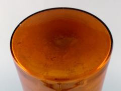 Otto Brauer Large vase bottle in orange brown arti glass - 1322342