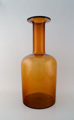 Otto Brauer Large vase bottle in orange brown arti glass - 1322344