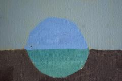 Otto Rogers Floating Triangle With a Circle in a Landscape - 826107