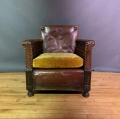 Otto Schulz Early 1940s Otto Schultz Woven Leather Club Chair Boet Sweden - 1318087