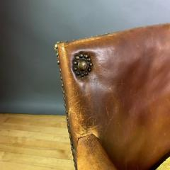 Otto Schulz Early 1940s Otto Schultz Woven Leather Club Chair Boet Sweden - 1318089