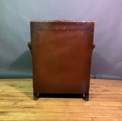 Otto Schulz Early 1940s Otto Schultz Woven Leather Club Chair Boet Sweden - 1318091