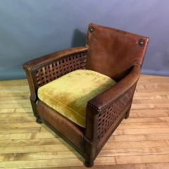 Otto Schulz Early 1940s Otto Schultz Woven Leather Club Chair Boet Sweden - 1318094