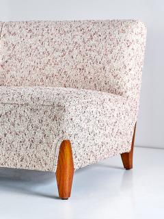 Otto Schulz Important Otto Schulz Curved Four Seat Sofa for Boet Sweden Mid 1940s - 1786565