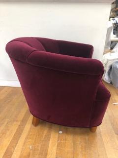 Otto Schulz Otto Schulz Velvet Club Chair - 981980