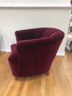 Otto Schulz Otto Schulz Velvet Club Chair - 981987