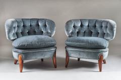 Otto Schulz Pair of Scandinavian Midcentury Easy Chairs by Otto Schulz - 902414