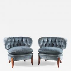 Otto Schulz Pair of Scandinavian Midcentury Easy Chairs by Otto Schulz - 903869