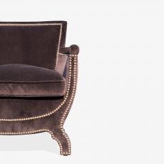 Otto Schulz Petite Art Deco Club Chairs in Espresso Velvet by Otto Schulz for Boet Pair - 1625423