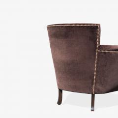 Otto Schulz Petite Art Deco Club Chairs in Espresso Velvet by Otto Schulz for Boet Pair - 1625426