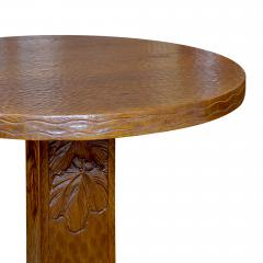 Otto Wretling Arts and Crafts Table in Gouged Oak by Otto Wretling - 1129712