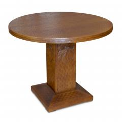 Otto Wretling Arts and Crafts Table in Gouged Oak by Otto Wretling - 1129715