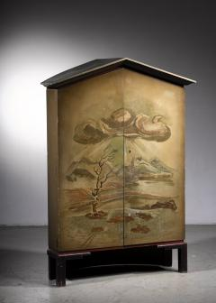 Otto Wretling Otto Stig Wretling decorated wooden cabinet - 1612123