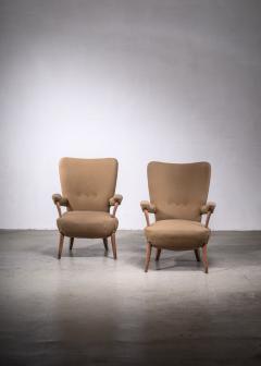 Ottorino Aloisio Pair of Ottorino Aloisio chairs for Colli - 1965331