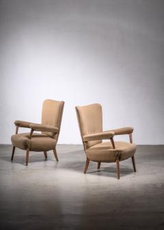 Ottorino Aloisio Pair of Ottorino Aloisio chairs for Colli - 1965332