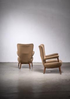 Ottorino Aloisio Pair of Ottorino Aloisio chairs for Colli - 1965333