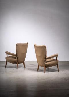 Ottorino Aloisio Pair of Ottorino Aloisio chairs for Colli - 1965334