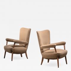 Ottorino Aloisio Pair of Ottorino Aloisio chairs for Colli - 1966312
