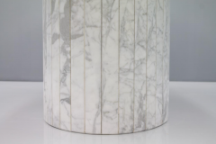 Oval Dining Table in White Carrara Marble Italy 1960 - 1272672