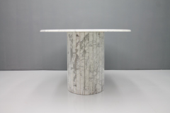 Oval Dining Table in White Carrara Marble Italy 1960 - 1272676