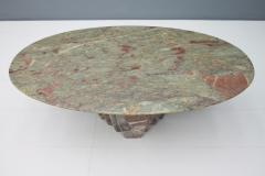 Oval Marble Coffee Table Italy 1970s - 1084908