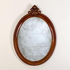 Oval Mirror with a Crest American 19th Century - 1629219