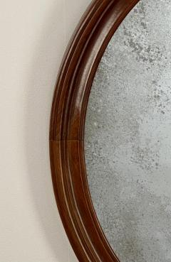 Oval Mirror with a Crest American 19th Century - 1629221